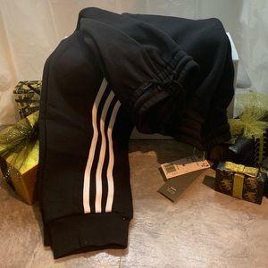 Adidas Black/White Sweatpants NWT (med)
